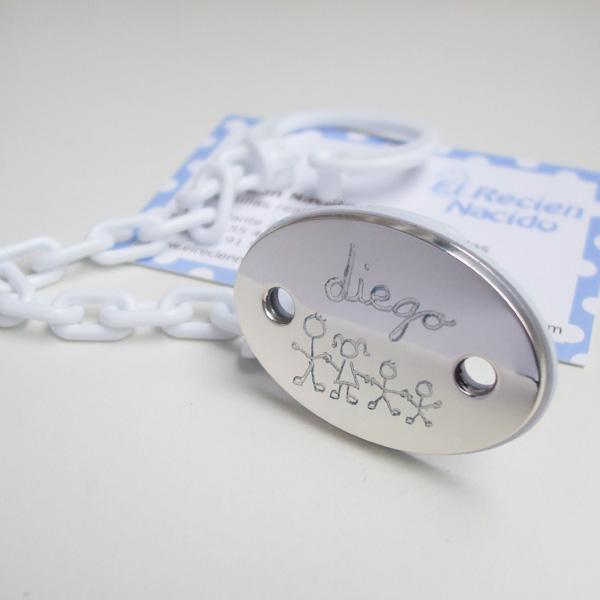 Broche de Plata grabado