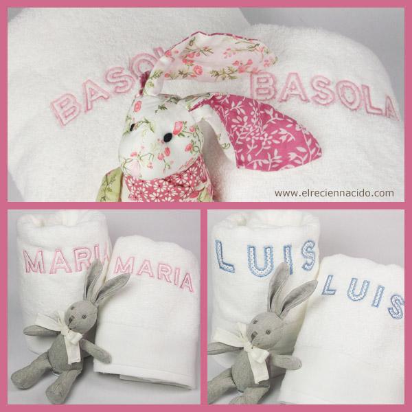 toallas con bordado para bebés y niños