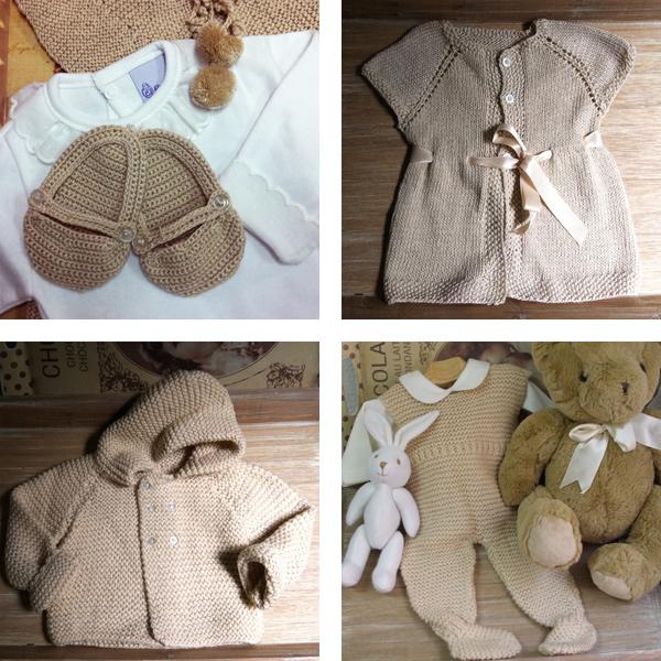 ropa invierno punto camel