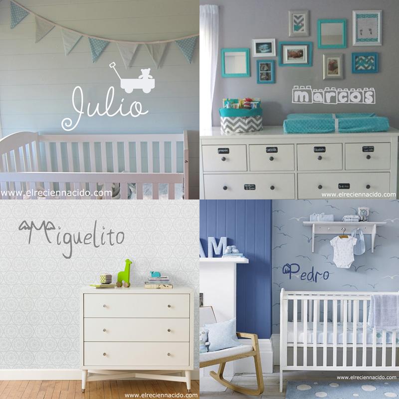 Vinilos personalizados con nombre decoraci n beb s y for Vinilo habitacion bebe nina