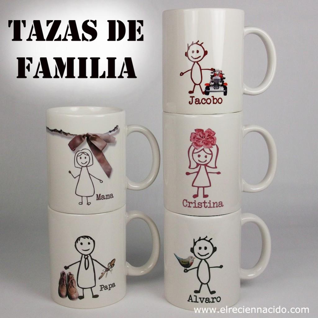 Tazas personalizadas, tazas de familia