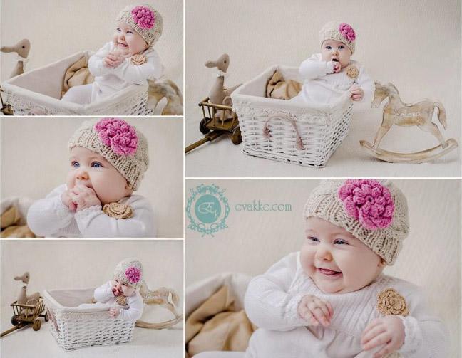 foto de bebe con gorrito