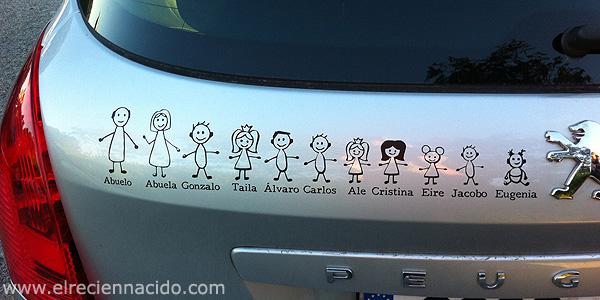 Pegatinas de bebe a bordo con nombre |