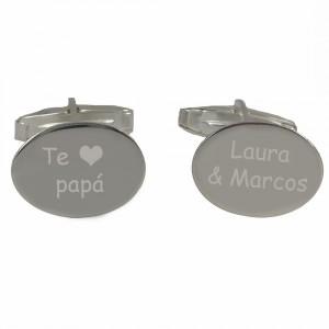 gemelos de plata personalizados