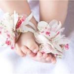 sandalias bebe flores