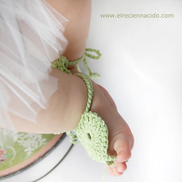 sandalias bebe crochet