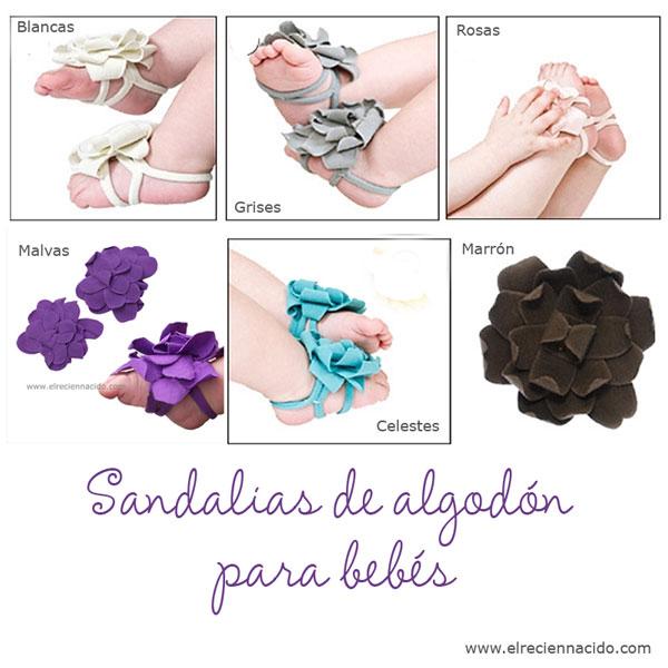 sandalias bebes algodon crochet