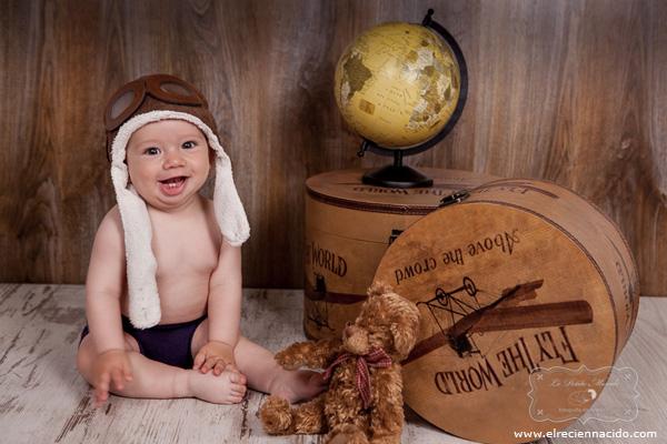 gorro aviador para bebés