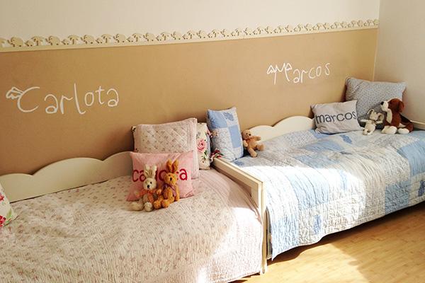 La habitaci n de mis ni os reci n decorada y pintarajeada - Habitaciones de ninos pintadas ...
