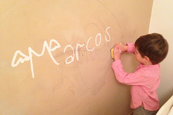 La habitaci n de mis ni os reci n decorada y pintarajeada - Como limpiar paredes ...