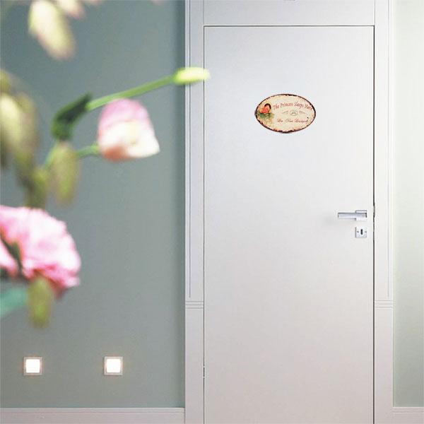 Cartel no molestar para puertas