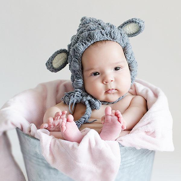 gorros de punto divertidos para bebés