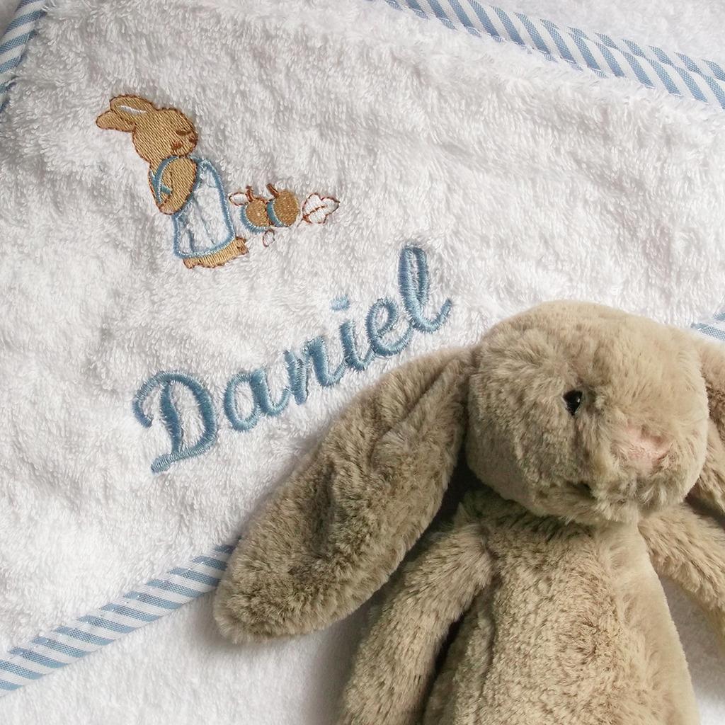 capa baño bordada bebés