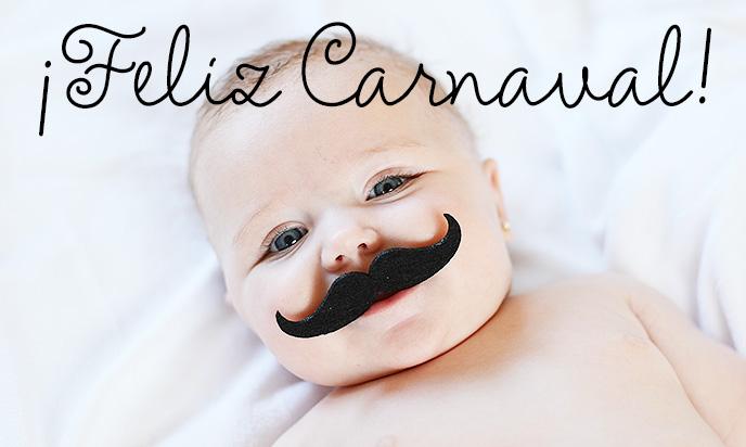 carnavales bigote para bebés