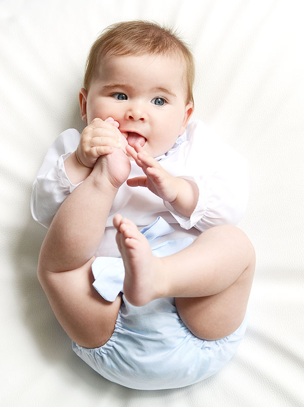 conjunto de rayas para bebés