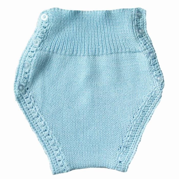 Cubre pañal de punto para bebé