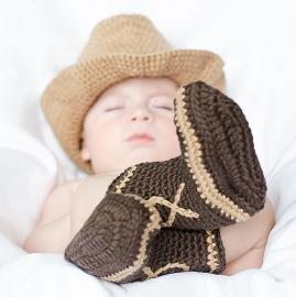 Disfraces bebés recién nacidos atrezzo sesiones fotos vaquero El Recién Nacido