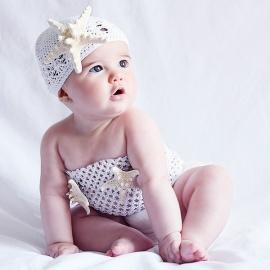 Disfraces bebés recién nacidos atrezzo sesiones fotos Sirenita estrella mar El Recién Nacido