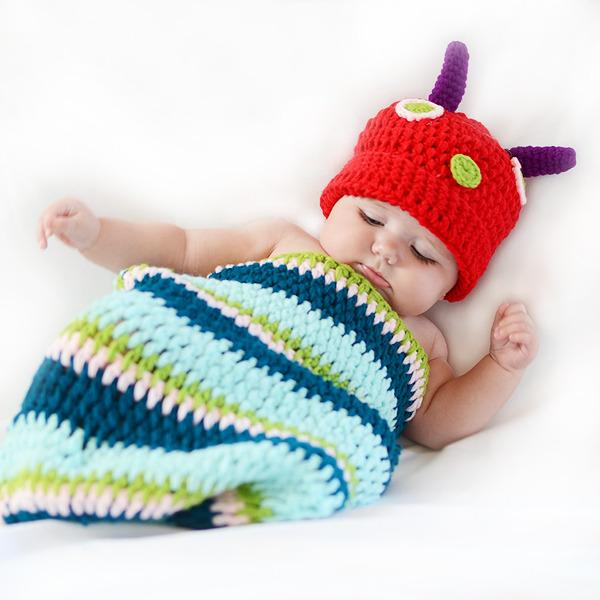 Disfraz bebés crochet - gusanito