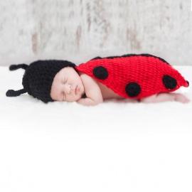 Disfraces bebés recién nacidos atrezzo sesiones fotos mariquita El Recién Nacido