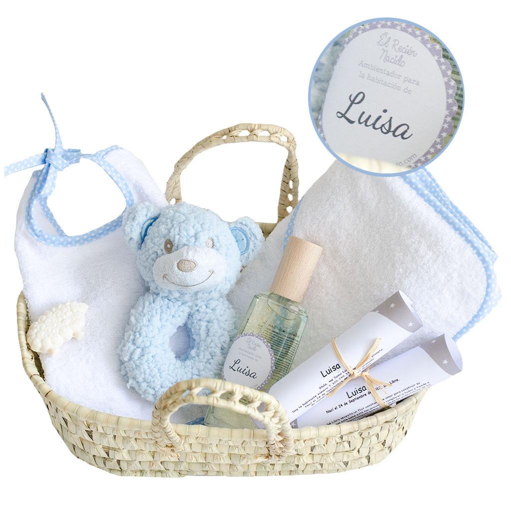 Canastilla artículos de baño para bebés