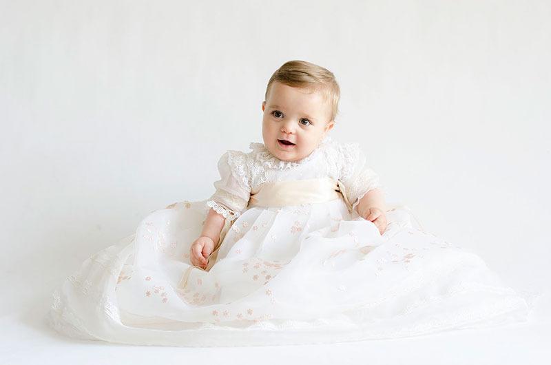 sesión fotos bebé bautizo