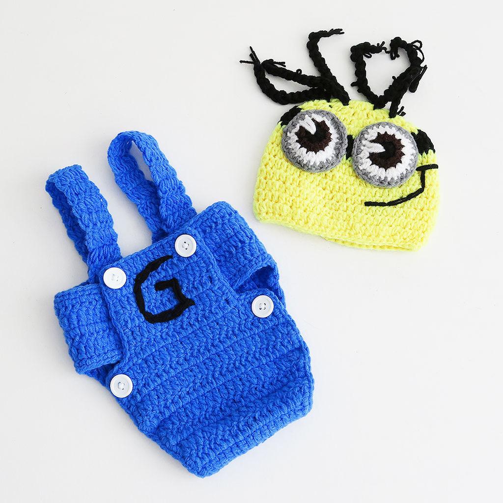disfraz de Minion de crochet para bebés