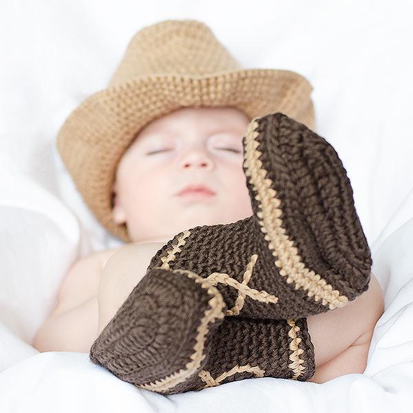 Disfraz de crochet para bebé - cow boy