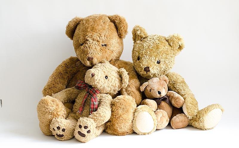 Familia de osos peluche  teddy bear