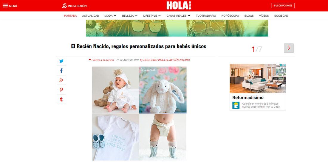 Publicación en HOLA