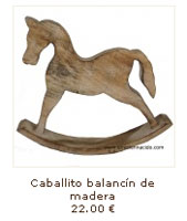 Caballito balancin de madera decapada el recien nacido - Caballito de madera ikea ...