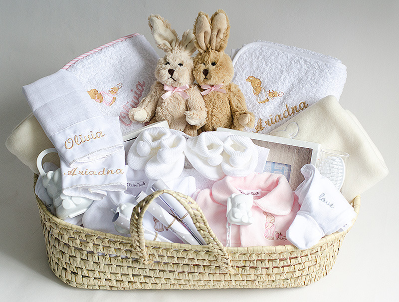 Canastillas bebés bordados para bebes canastilla