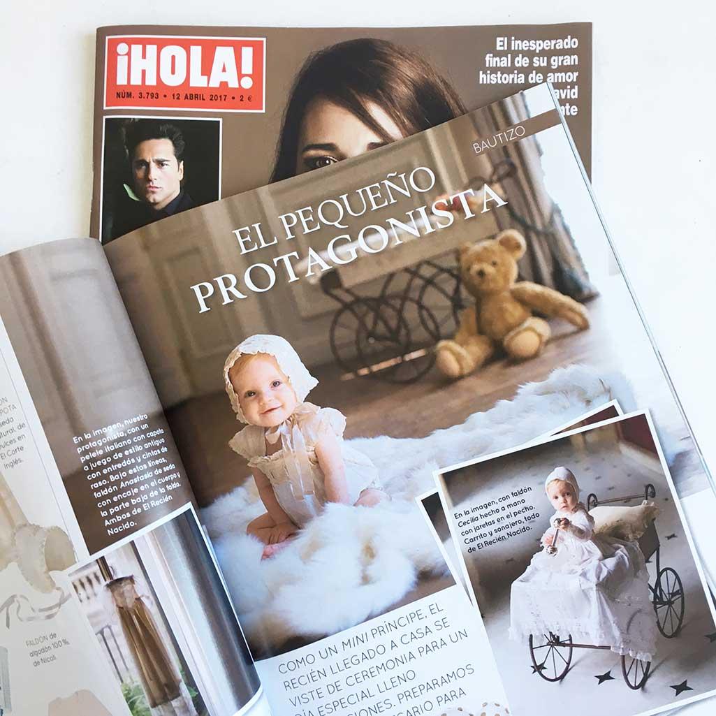 Reportaje de El Recien Nacido en la revista Hola