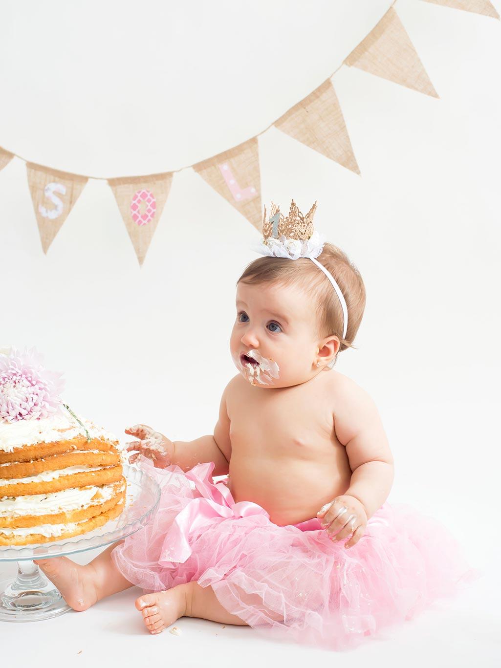 sesión fotos smash cake