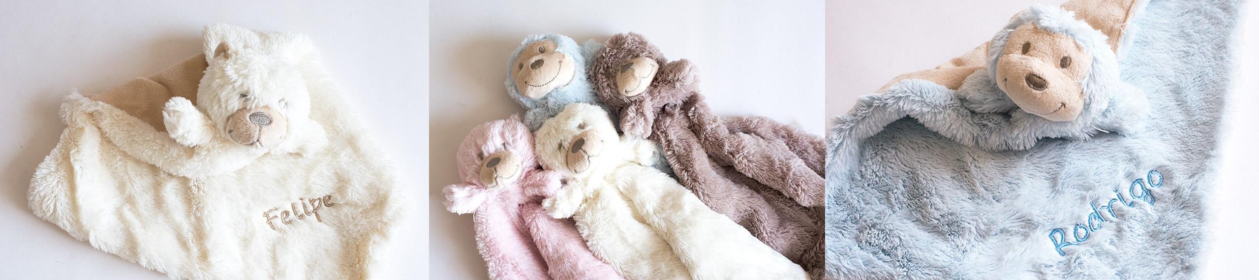 Regalos originales para bebes: mantas de apego, mantas seguridad bebés