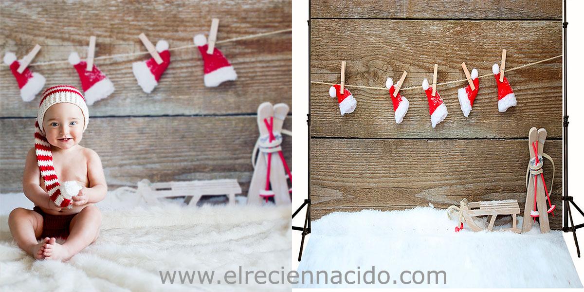 fondo navidad para fotos con trineo