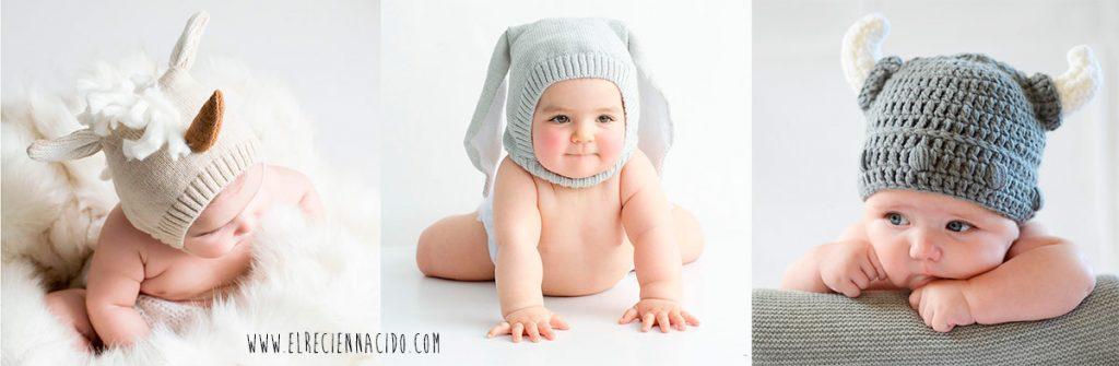 Gorro divertidos de crochet para bebes.