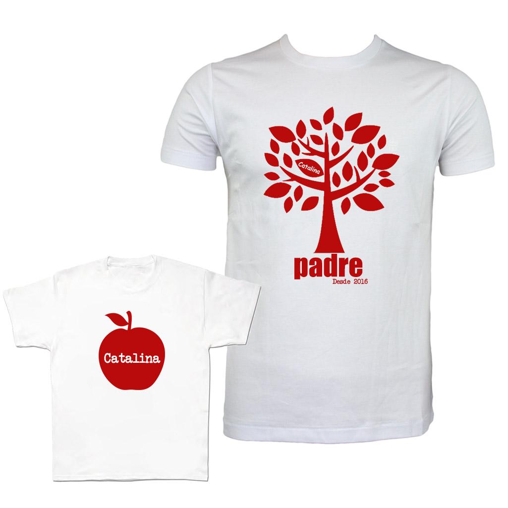 Camisetas personalizadas para padres e hijos