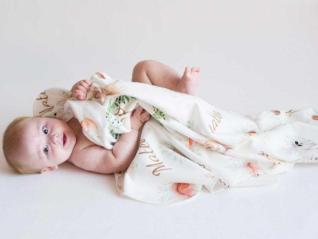 Manta para bebé personalizada
