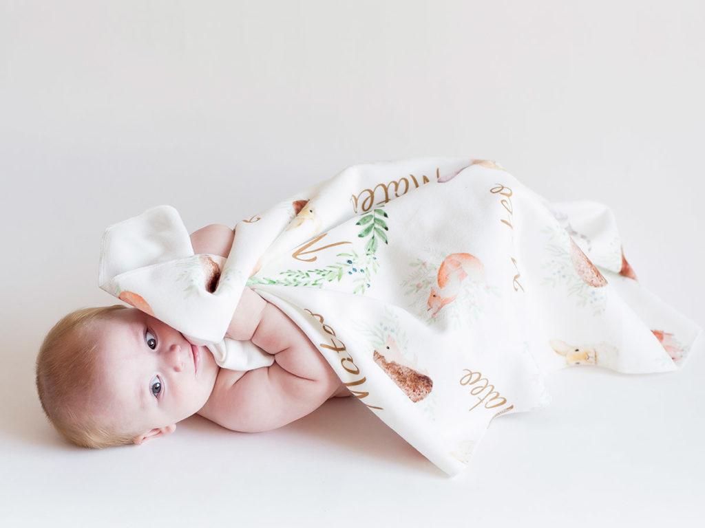 Manta polar para bebe personalizada