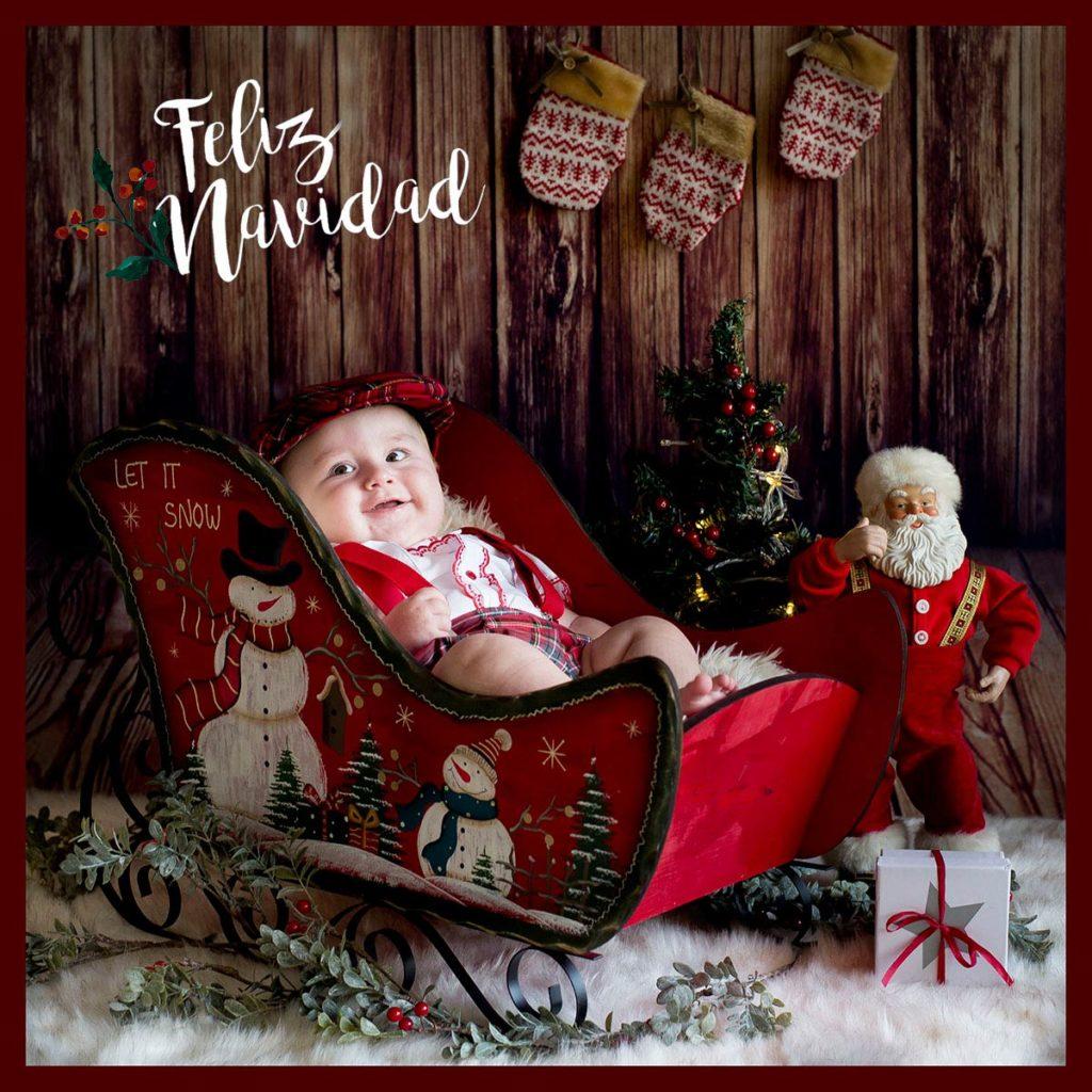 Sesiones de Navidad con atrezzo navideño