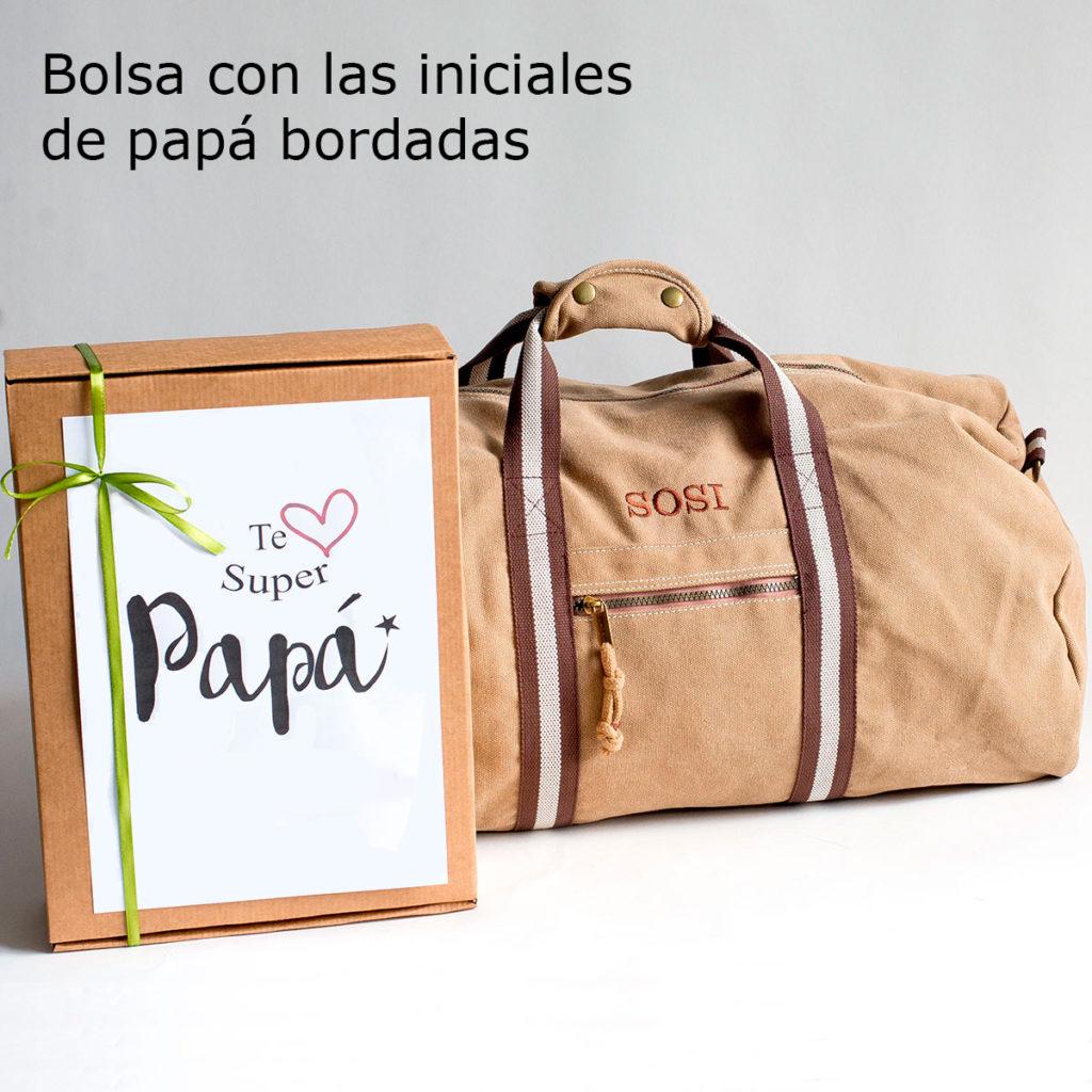 regalos dia de el padre bolsa de lona con iniciales