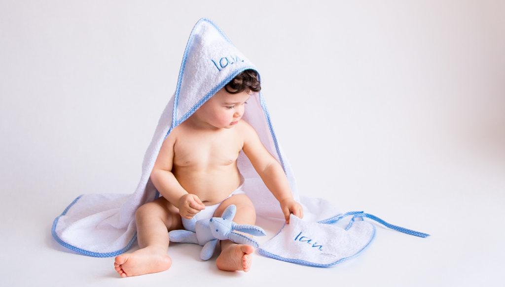 toalla bebe personalizada