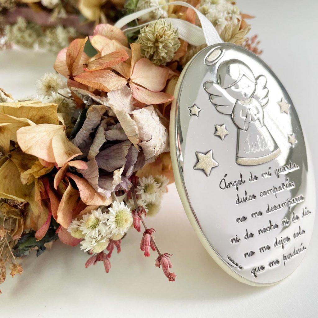 Regalo bautizo cunero de plata